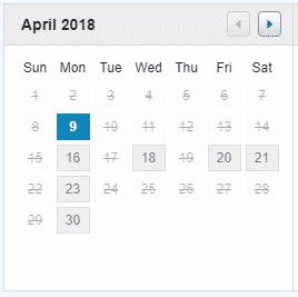 Androfill Calendar Scheduling Link April 2018