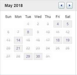 Androfill Calendar Scheduling Link May 2018