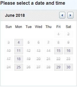 Androfill Calendar June 2018