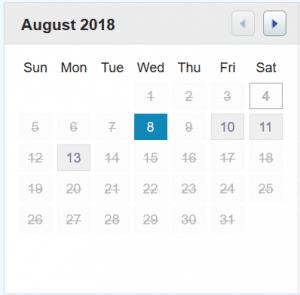 Androfill Calendar Link